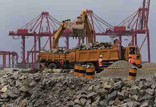 Infrastructure development project in Sri Lanka (Reuters)