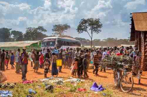 Refugees from Burundi arrive at the Nyarugusu refugee camp in western Tanzania (Reuters)