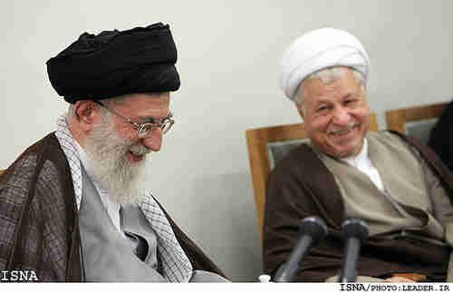 Ayatollah Seyed Ali Khamenei (L) and Hashemi Rafsanjani
