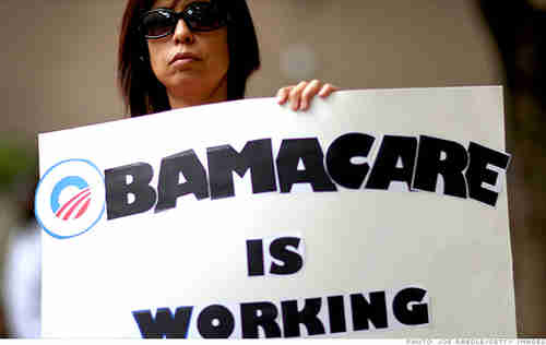 An Obamacare promotional banner from happier days (Teneshia LaFaye)