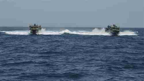 Two US Navy boats with 10 American sailors held by Iran's Islamic Revolution Guards Corps. (PressTv - Iran)