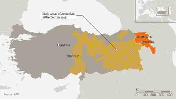 Armenian settlements in eastern Turkey in 1915 (AFP)