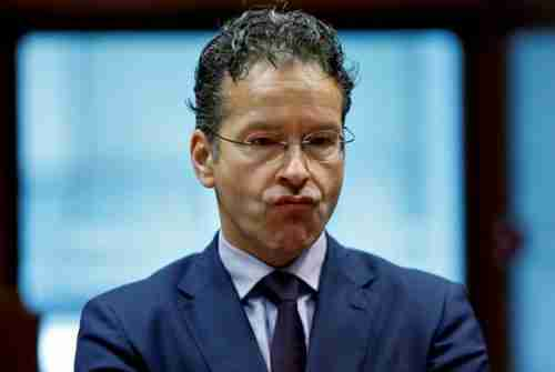 Dutch Finance Minister and Eurogroup President Jeroen Dijsselbloem makes a face during a European Union finance ministers meeting in Brussels on July 12 (Reuters)