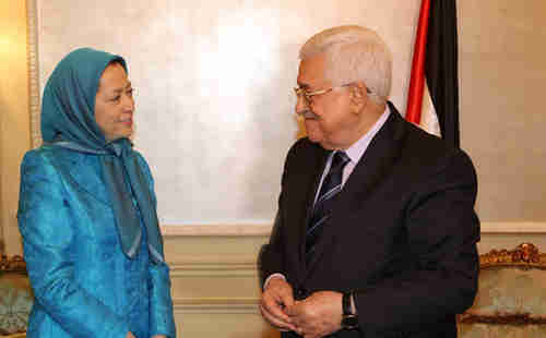 Maryam Rajavi's meeting in Paris with Mahmoud Abbas is infuriating Iran (Iran News Update)