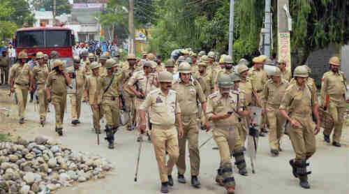 Indian security personnel in Kashmir after violent protests in 2015 (PTI)