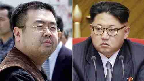 Kim Jong-nam (L), the assassinated half-brother of Kim Jong-un (R) (AP)
